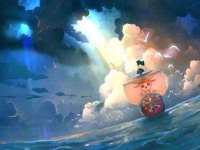 Keep Sailing 2d animation one piece onepiece illustration motiongraphics motion graphics motion design motion animation