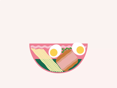 D Ramen Bowl vector minimalist motiongraphics design motion graphics motion design motion animation illustration