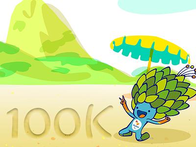 Paralympic mascot 100K followers mascot olympic rio2016 olympics