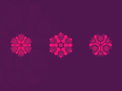 Macarena Farms macarena geometry logo violet colombia farms flower