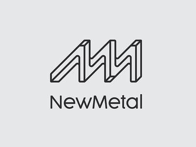 New Metal new curve arua smithy metal minimal logo monogram m n