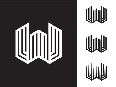 W logo design logo exploration geometric initial letter w