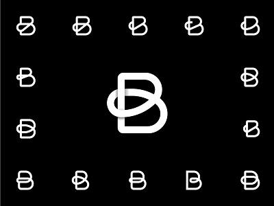 Letter B. kanot curve white black initial exploration shadow variations b logo letter