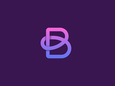 Letter B. kanot curve initial exploration shadow variations b logo letter