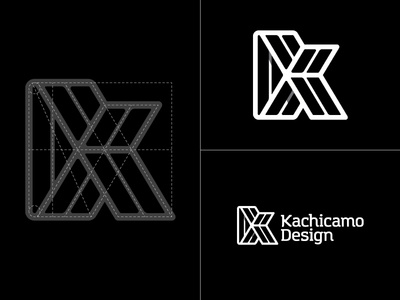 Kachicamo Design freelance design identity k kachicamo initial letter minimal logo new