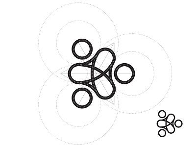 Logo grid positive direction circle curve grid education people minimal logo