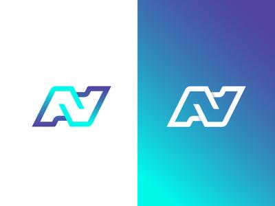 Ambigram A+N+A elegant ambigram design typography curve initial exploration shadow minimal letter geometric geometry brand logo