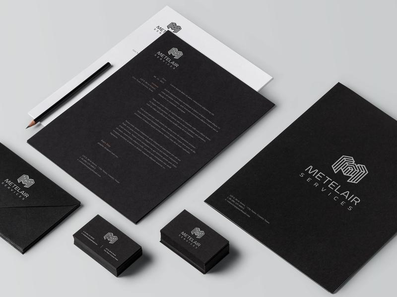 Logo design lines geometry geometric design branding white black minimalist minimal logo electricity metal air
