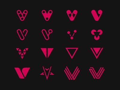 VVVV v icons experimental typography