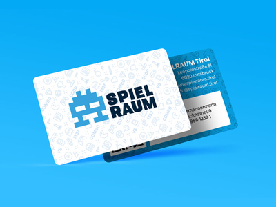 Spielraum membership card gaming games logo pattern card spielraum