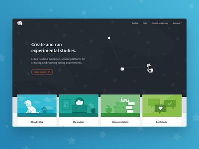 Landing Page – L-Rex software open source illustration website ui ux web landing page
