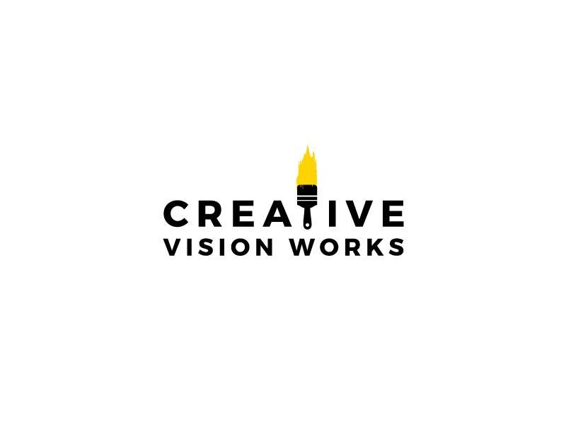 60132d9fd8 Creative Vision Works Concept Logo by Sandu Cosmin