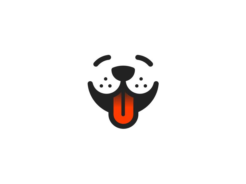 Smiling Dog smile logo pet dog