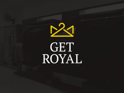 Get Royal royal yellow logo fashion clothes crown hanger