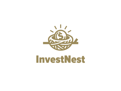 Invest Nest gold coin nest investment logo