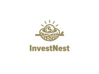 Invest Nest gold coin nest investment logo