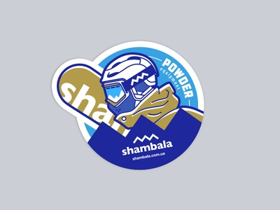 sticker for equipment shop logo shambala winter sport mountains winter ski goggles helmet snowboard snow