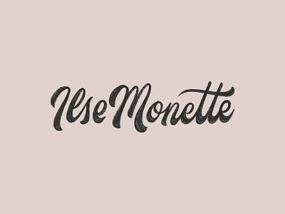 IlseMonette scripts logotype script logo script lettering lettering hand lettering hand drawn logo handdrawn script logo design lettered logo lettering logo logo