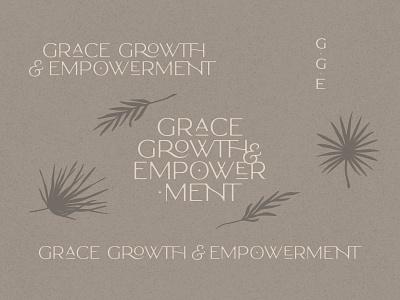 Grace, Growth & Empowerment - Logo + Branding design typography illustration branding brand logo