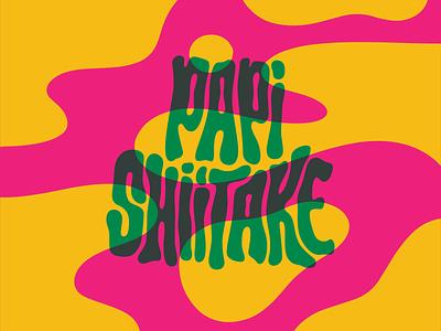 Papi Shiitake Band Logo design logo branding illustration letters hand lettering typography type lettering