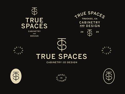 True Spaces design typography lockup type logotype logo branding