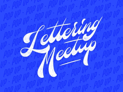 Lettering Meetup meetups procreate ipad sketch meetup script design illustration letters typography hand lettering type lettering