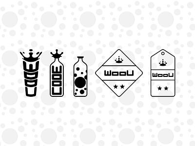 Woou Badge typography symbol mark logo fashion brand branding brand identity