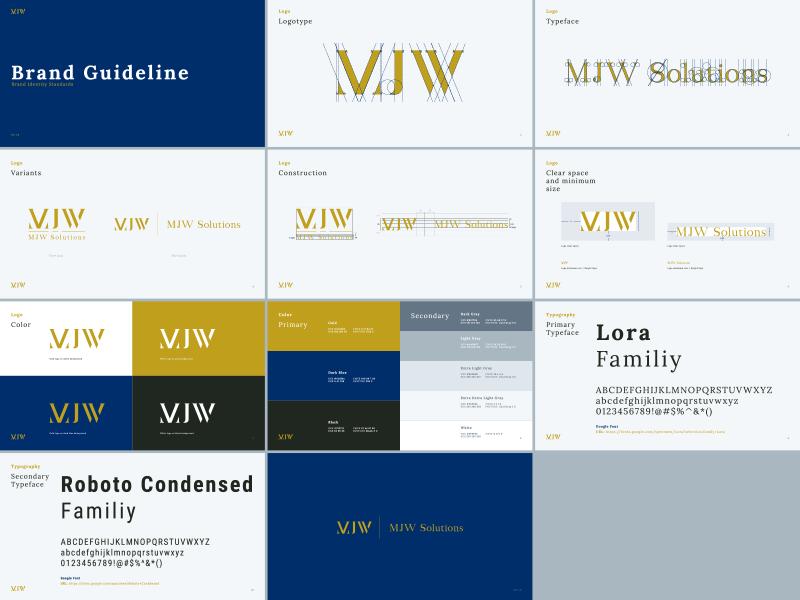 MJW Brabd Guideline visualidentity vi ci brandguideline corporateidentity mark symbol logo branding brand identity typography