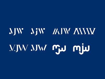 MJW Ideas idea corporateidentity ci mark symbol logo brand identity typography