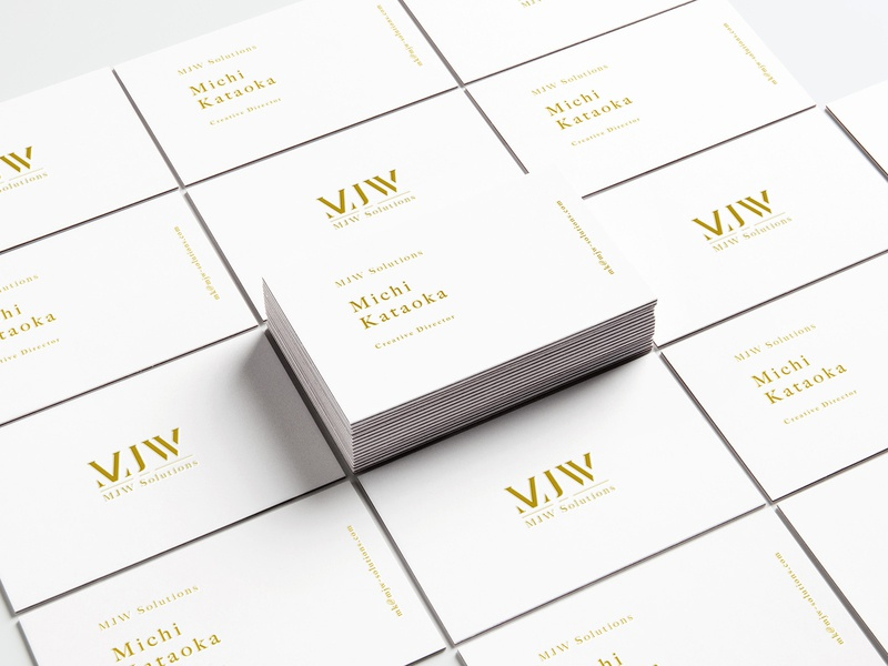 MJW Business Cards corporateidentity ci design visualidentity businesscards vi branding brand identity typography