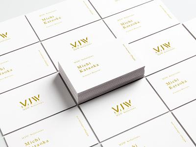 MJW Business Cards corporateidentity ci design visualidentity businesscards vi branding brand identity typography