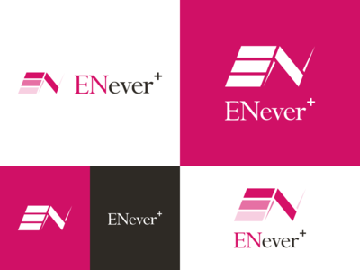 ENever+ Logo design