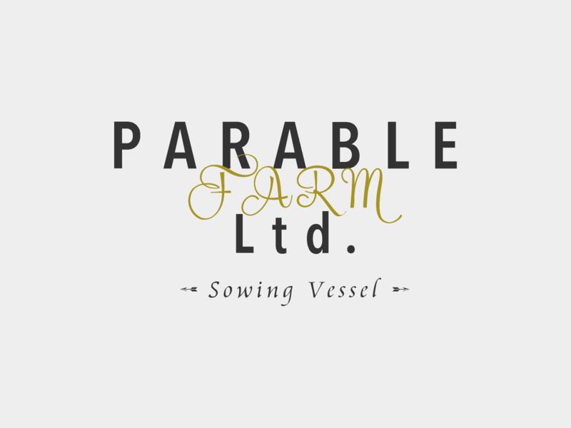 Logo design sowing vessel parable farm vi ci icon design mark symbol logo branding brand identity typography