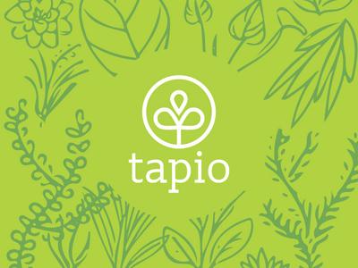 Tapio Logo with Hand-Drawn Pattern