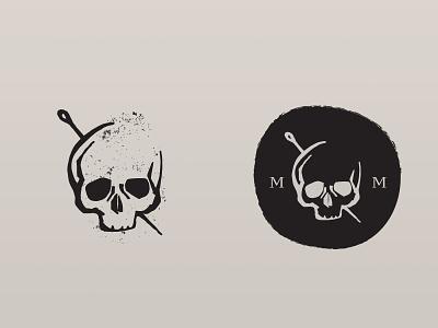 Skull Logo death dark logo skull logo logo design logo illustration hand drawn skull