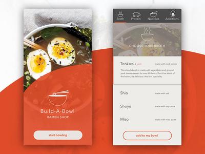 Daily UI Challenge | Ramen Bar Menu