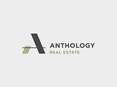Logo | Anthology Real Estate fayetteville green logo real estate logo real estate mark symbol logo a logo