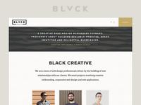 Black Creative website