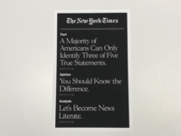 New York Times - News Literacy