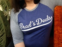 Brad's Deals baseball shirt