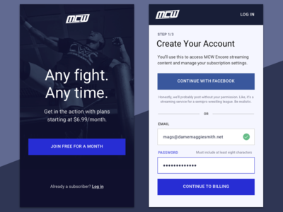 Daily UI #001 - Signup