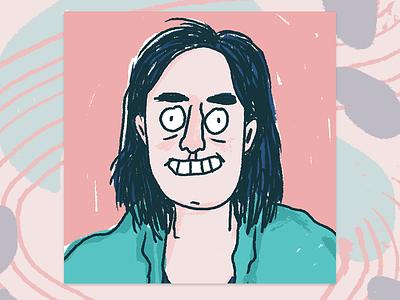 Selfie narcissism self-portrait illustration