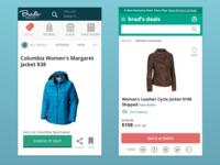 Brad's Deals mobile web product page exploration