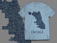 Chicago Neighborhoods tee