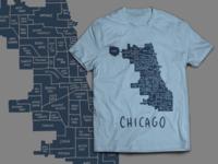 Chicago Neighborhoods tee