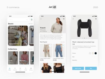 E-commerce template ecommerce mobile app ios ux ui jetup
