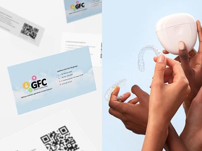 GFC illustration branding logo pediatric medicine dentist dental clinic medical businesscard jetup