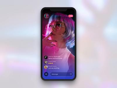 SOCIAL MEDIA MESSENGER mobile app iphone socialmedia messenger jetup digital jetup ux ui typography mobile design color clean app animation media social