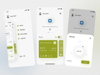 SmartRPlace ux app ui design app app design smart temperature dashboad statistic graphic smarthome home mobile app jetup smartrplace smartrplace