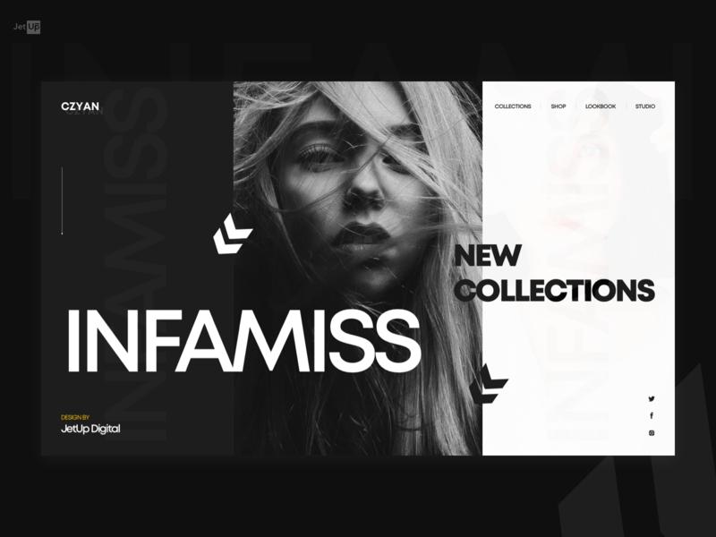 Infamiss shop shopping ecommerce onlinestore fashion black jetup jetup digital home webdesign desktop website ux ui design